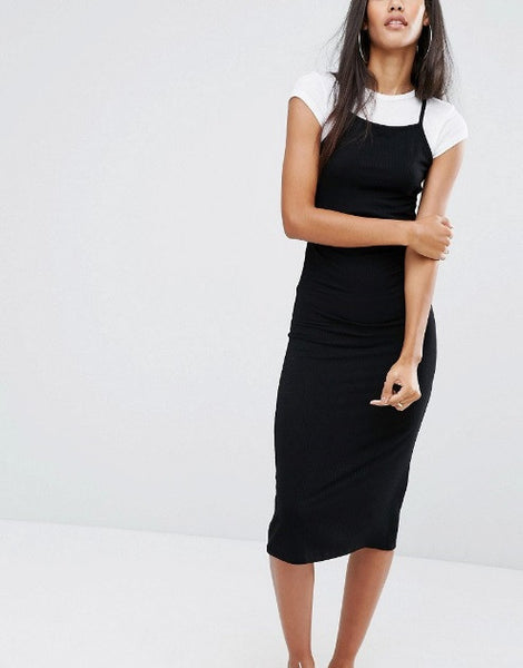 2 IN 1 CAMI MIDI DRESS