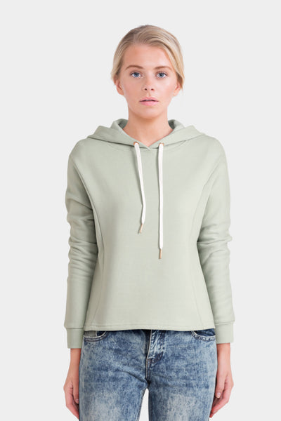 South Beach Cropped Hoodie In Mint