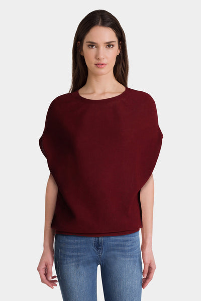Burgundy Knit Top