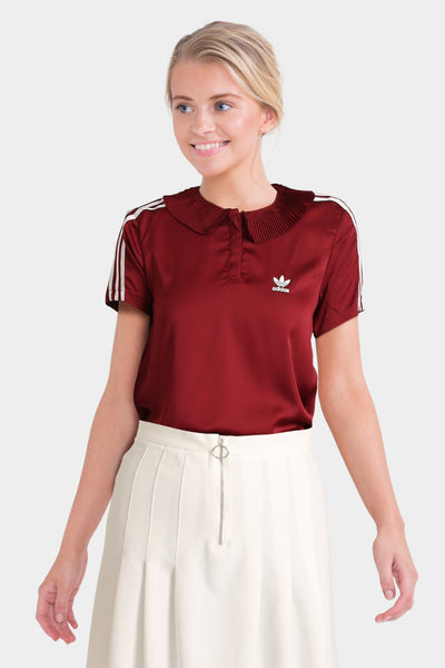 Adidas Originals Polo Shirt With Pleated Back Detail