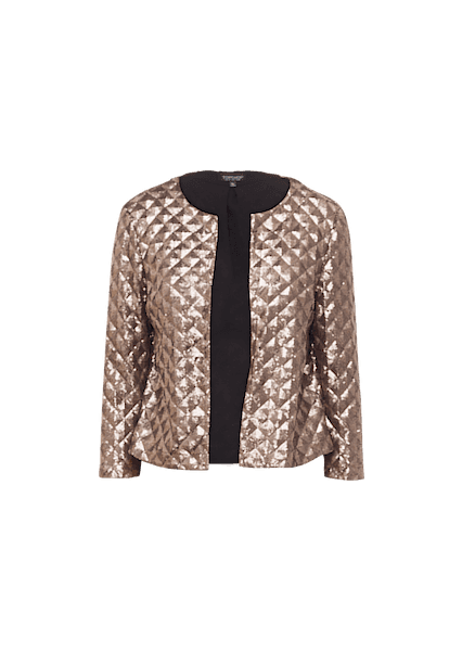 TOPSHOP PYRAMID SEQUIN JACKET