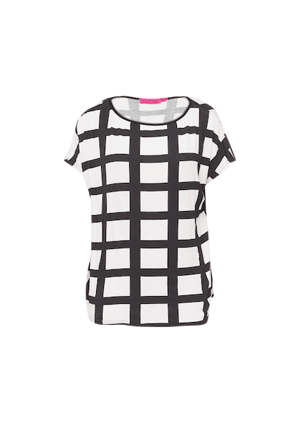 BOOHOO ALLIE LARGE GRID CHECK OVERSIZED TEE
