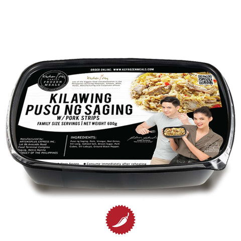 Kilawing Puso ng Saging with Pork Strips