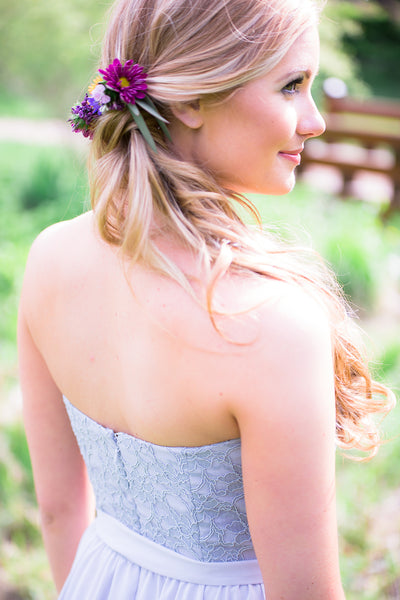 A soft and feminine flower accent | Floral Headpiece Inspiration for Brides & Bridesmaids | Kennedy Blue
