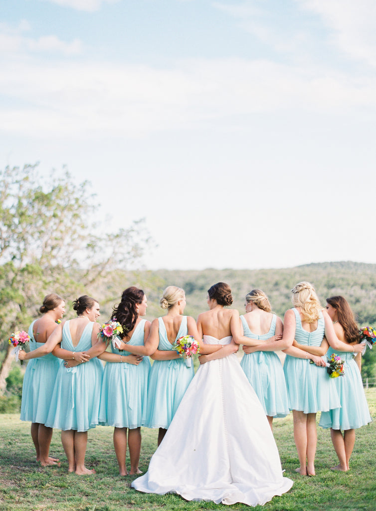 Beautiful bridesmaid photo of the back of your dresses! 26 Photos To Take With Your 'Maids | Kennedy Blue | Kayla Barker Photography