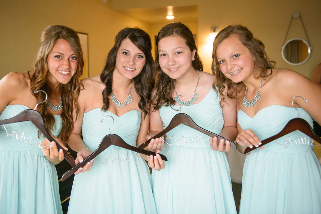 Strapless Chiffon Bridesmaid Dresses in Mint | Purrington Photography | Kennedy Blue