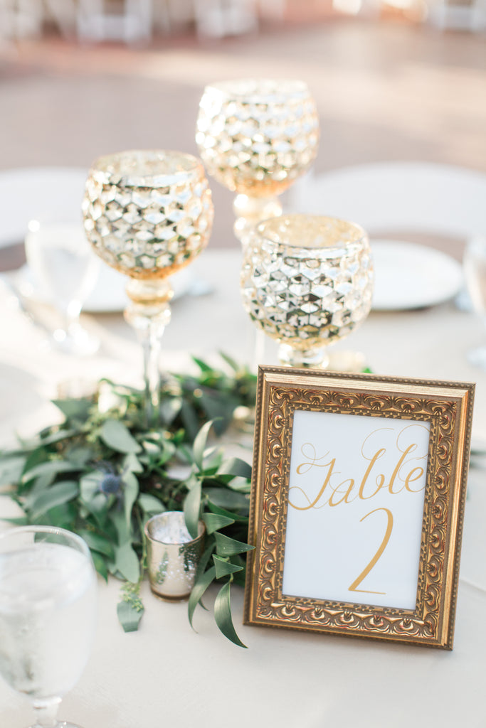 table number | DIY Wedding Centerpieces on a Budget