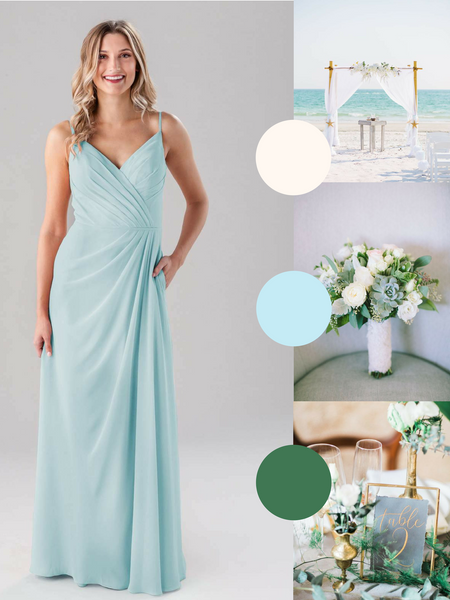 Sarah Kennedy Blue Bridesmaid Dress in Mint | The Best Beach Wedding Colors for Your Destination Wedding