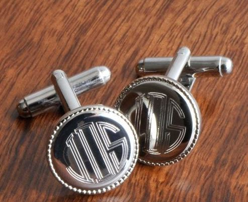 personalized cufflinks | 16 Best Man Gift Ideas from the Groom