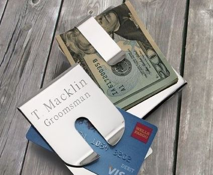 personalized money clip | 16 Best Man Gift Ideas from the Groom