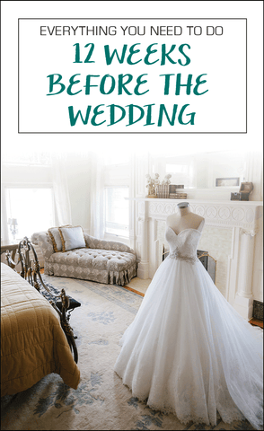 Everyhing you need to do 12 weeks before the wedding! Plus a free, printable checklist! | How to Deal With Common Wedding Day Concerns