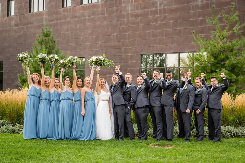 Slate Blue wedding party