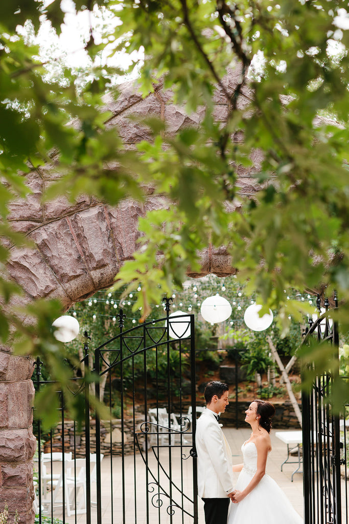 A romantic shot of the bride and groom at their mansion wedding | Photo by Scott and Hannah Photography | Stunning Wedding Photos to Inspire Your Big Day! | Kennedy Blue