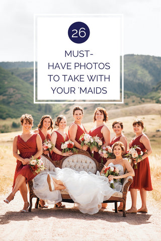 26 Must-Have Photos To Take With Your Bridesmaids | Kennedy Blue
