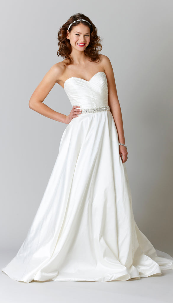An A-line Silk Wedding Dress | Affordable Bridal Gowns Under $1500 | Kennedy Blue