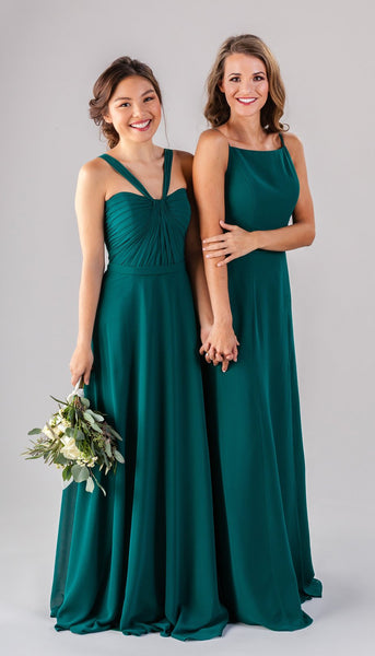 two women wearing Kennedy Blue bridesmaid dresses | How to Find the Perfect Bridesmaid Dresses for Petite Women