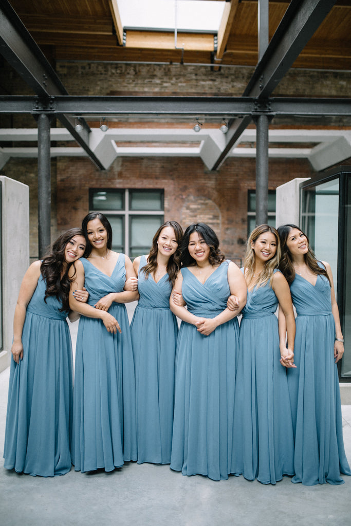 A lovely picture of the bridesmaids | Photo by Whims & Joy Photography | Stunning Wedding Photos to Inspire Your Big Day! | Kennedy Blue