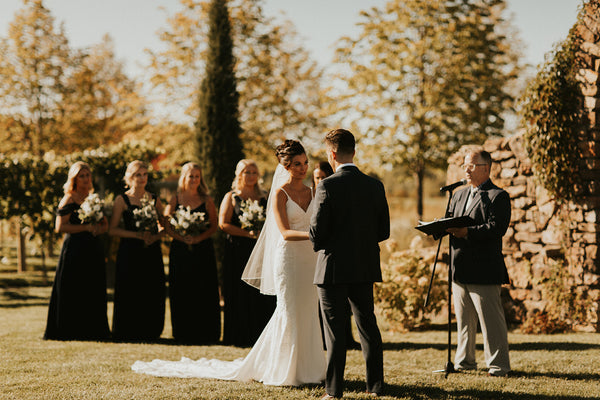 wedding vows during ceremony