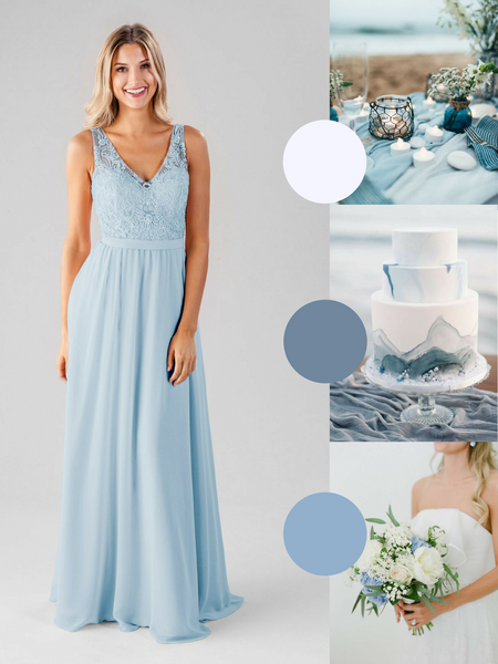 Betsy Kennedy Blue Bridesmaid Dress in Sky Blue | The Best Beach Wedding Colors for Your Destination Wedding