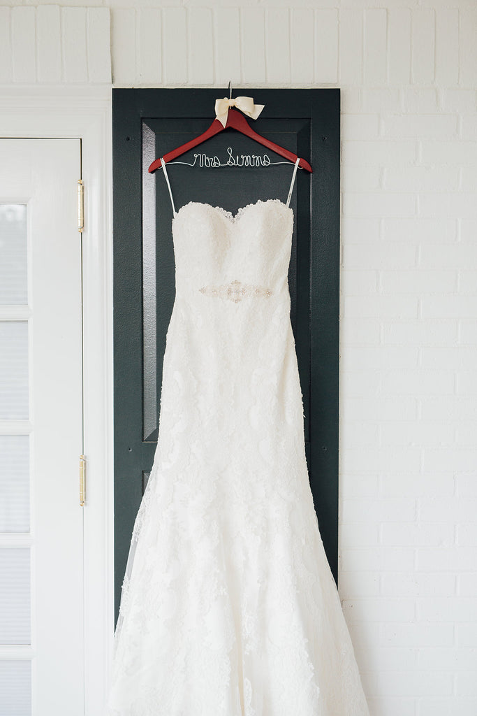 The brides beautiful gown! | A Simple & Stunning Sage Wedding | Kennedy Blue | Rachel Figueroa Photography