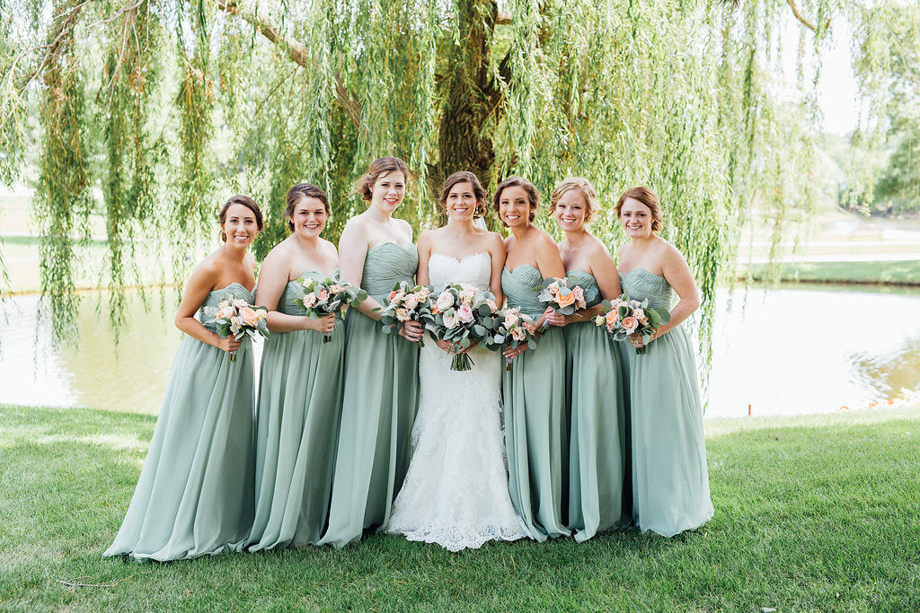 Gorgeous bridesmaid pic!! | A Simple & Stunning Sage Wedding | Kennedy Blue | Rachel Figueroa Photography