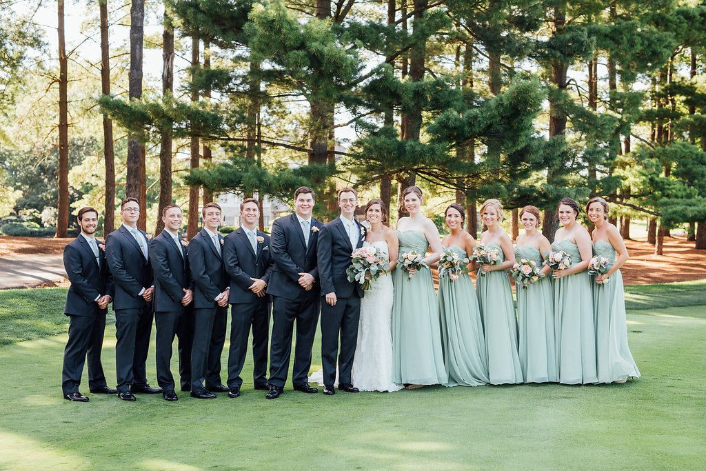 The whole bridal party! | A Simple & Stunning Sage Wedding | Kennedy Blue | Rachel Figueroa Photography