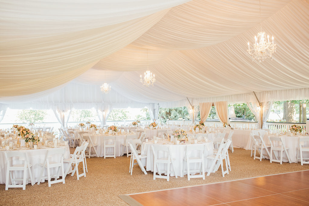 Look at this beautiful wedding reception venue! | A Simple & Stunning Sage Wedding | Kennedy Blue | Rachel Figueroa Photography