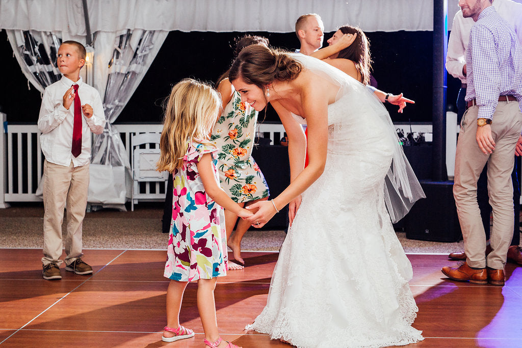 The bride on the dancefloor! | A Simple & Stunning Sage Wedding | Kennedy Blue | Rachel Figueroa Photography