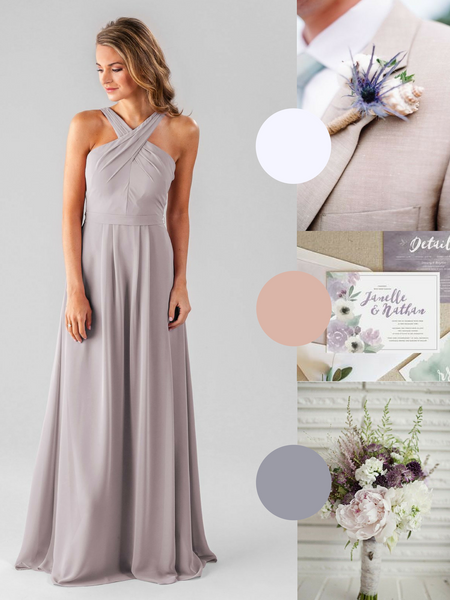 Elena Kennedy Blue Bridesmaid Dress in Wisteria Purple | The Best Beach Wedding Colors for Your Destination Wedding