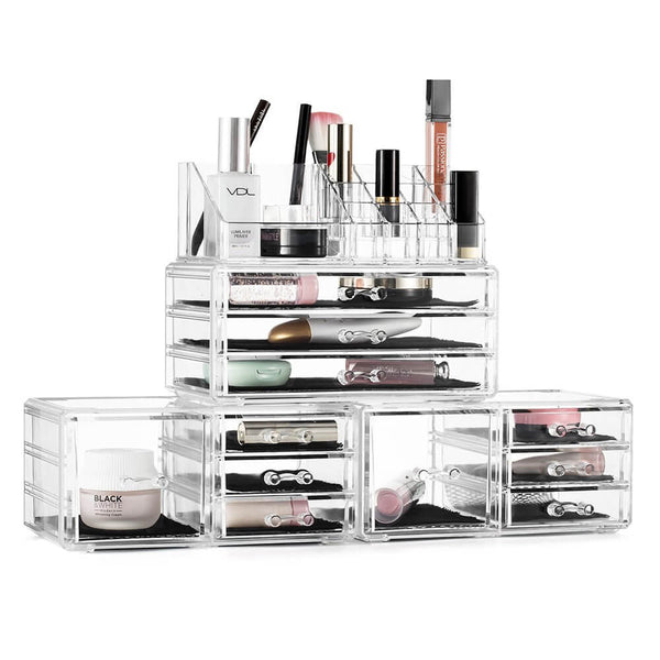 makeup organizer set | bridesmaid gift ideas Kennedy blue