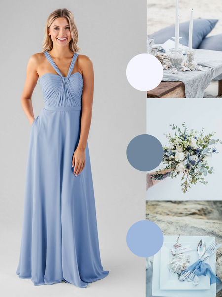 Ivy Kennedy Blue Bridesmaid Dress in Cornflower | The Best Beach Wedding Colors for Your Destination Wedding