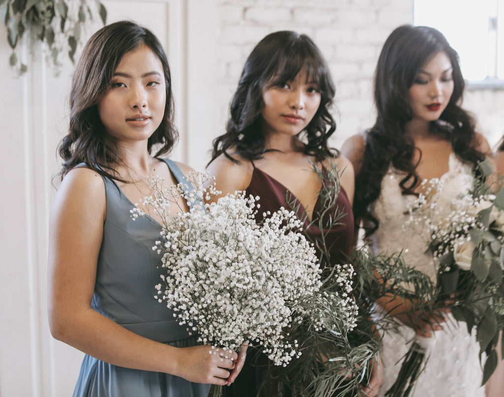 Bride Squad | Moody Styled Shoot | Kennedy Blue Dresses