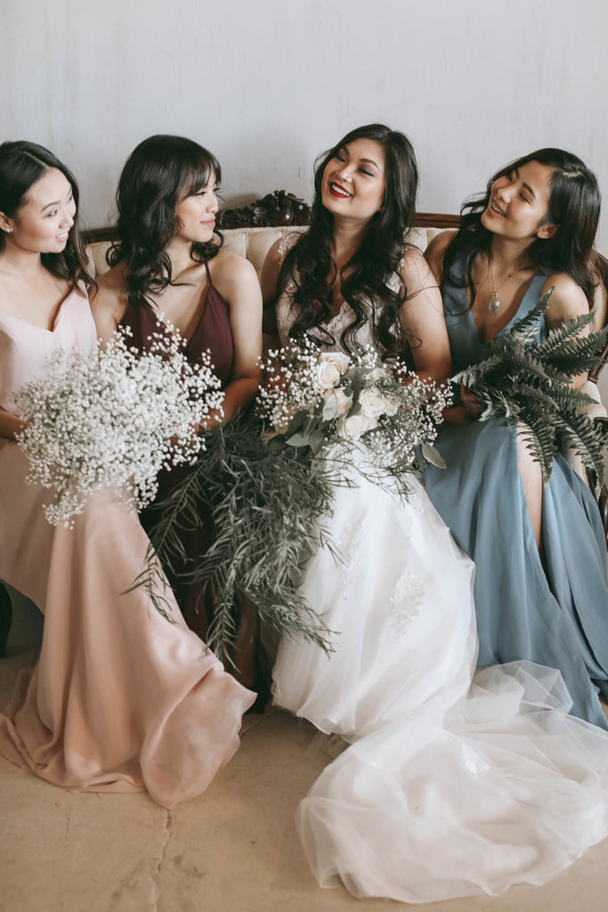 Bridal Party Getting ready | Moody Styled Shoot | Kennedy Blue Dresses