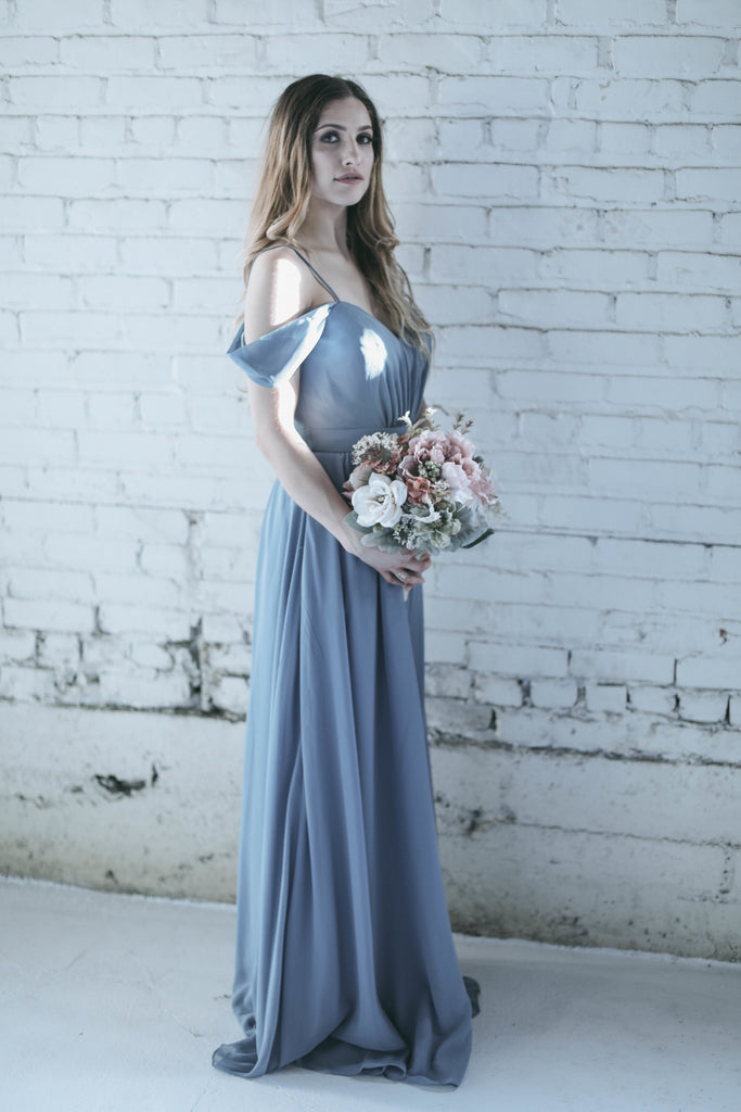 Off the shoulder dress | Moody Styled Shoot | Kennedy Blue Dresses