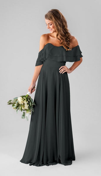 Kennedy blue Allison | Long Grey Bridesmaid Dresses