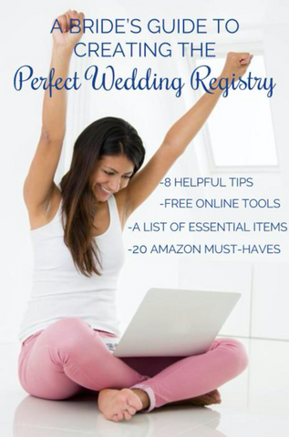 See our top tricks, tips, and household items to create the best wedding registry | The Bride's Ultimate Guide to Creating the Perfect Wedding Registry | Kennedy Blue