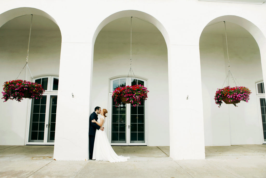 Beautiful wedding photo using simple architecture! | 52 Best Wedding Photo Ideas | Kennedy Blue | Hannah Schmitt Photography