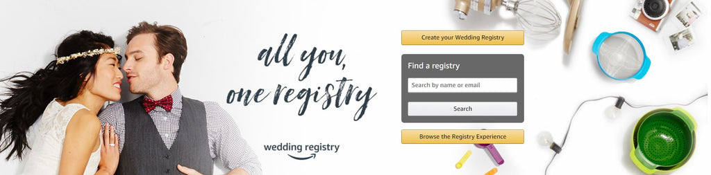 Create your perfect wedding registry at Amazon and enjoy plenty of awesome perks! | The Bride's Ultimate Guide to Creating a Wedding Registry | Kennedy Blue