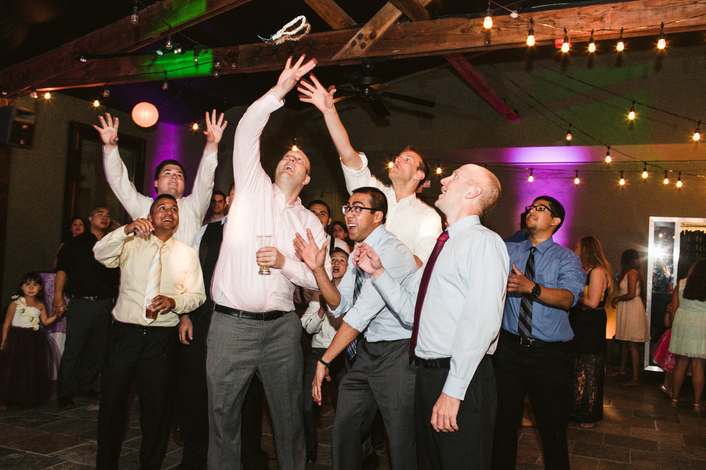 A wedding garter toss!