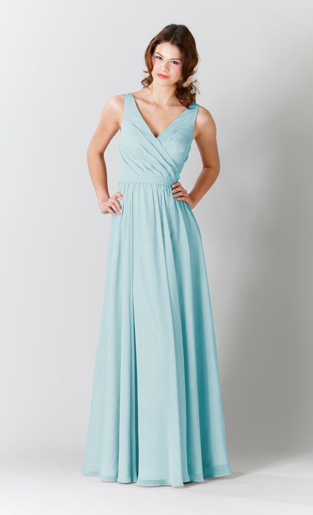 Kennedy Blue Chiffon Anna Bridesmaid Dress in Mint