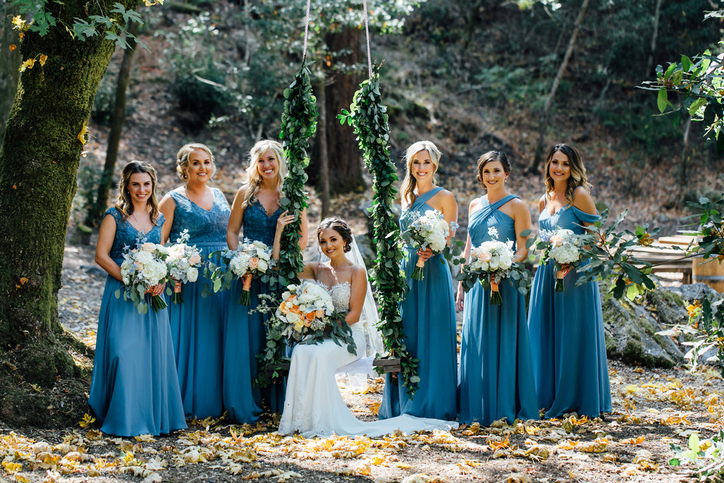 beaded embroidered bridesmaid dresses