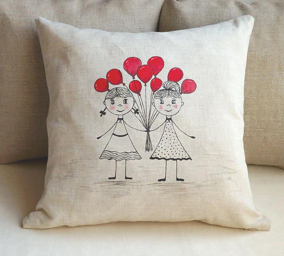 How adorable is this pillow for the perfect bridesmaid proposal? | The Ultimate List of Bridesmaid Proposal Ideas | ArtsTextileByShrekbo | Kennedy Blue
