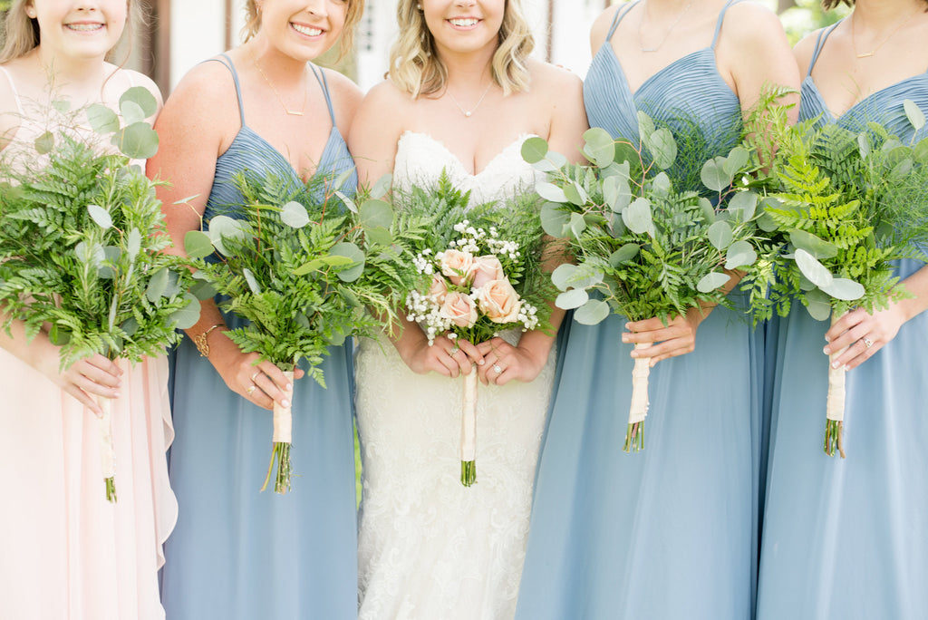 Blue Wedding Gowns: 20 Slate Blue Bridesmaid Dresses Worth Obsessing Over