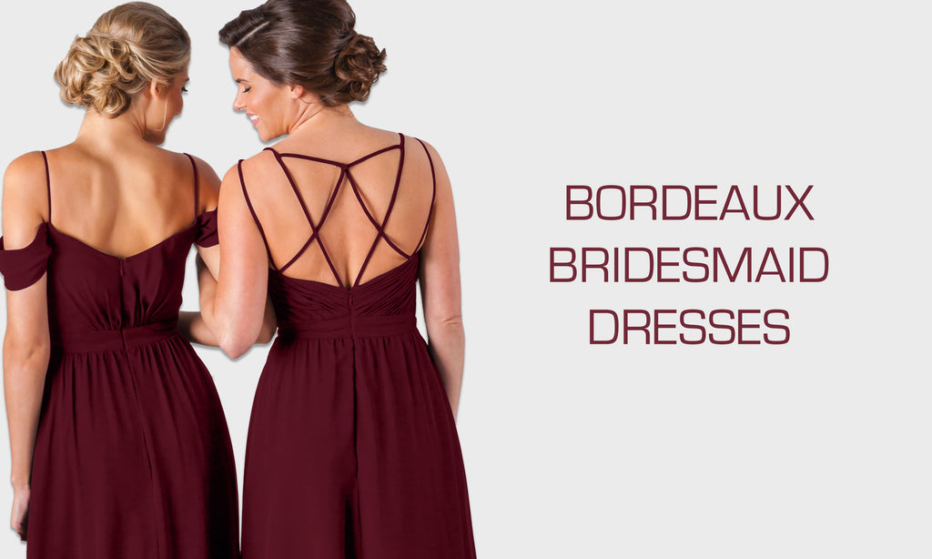 16 Favorite Bordeaux Bridesmaid Dresses