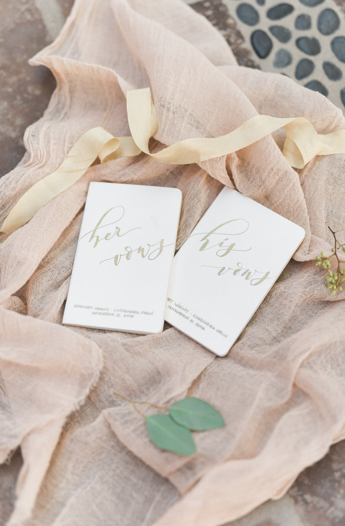 His and Hers Vows | Cassie And Roberts Romantic Rustic Wedding | Kennedy Blue
