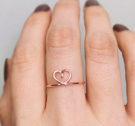 A beautiful heart rings for your beautiful bridesmaids! | Your Ultimate Guide to Accessorizing Bridesmaid Dresses | BexBea | Kennedy Blue