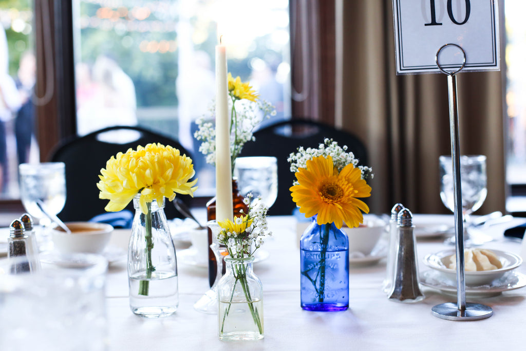 See all of the details from Jenna and Nate's rustic wedding in Wisconsin. | A Charming Blue and Yellow Wedding