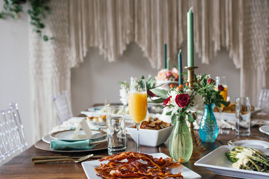 Brunch tablescape | Boho Styled Shoot