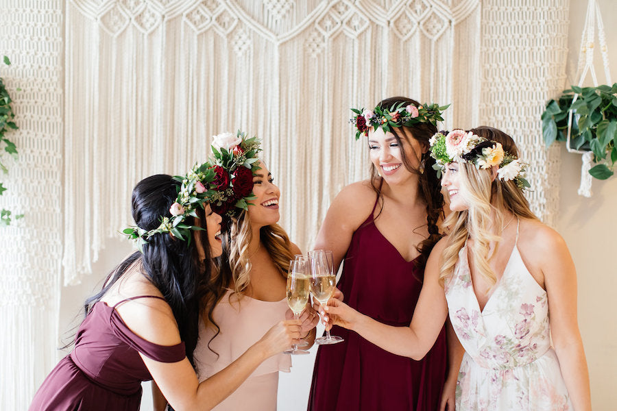 Bohemian Brides celebrating in dresses | Boho Styled Shoot