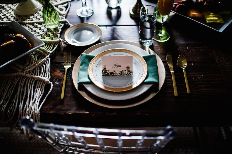Bohemian Table Setting | Boho Styled Shoot